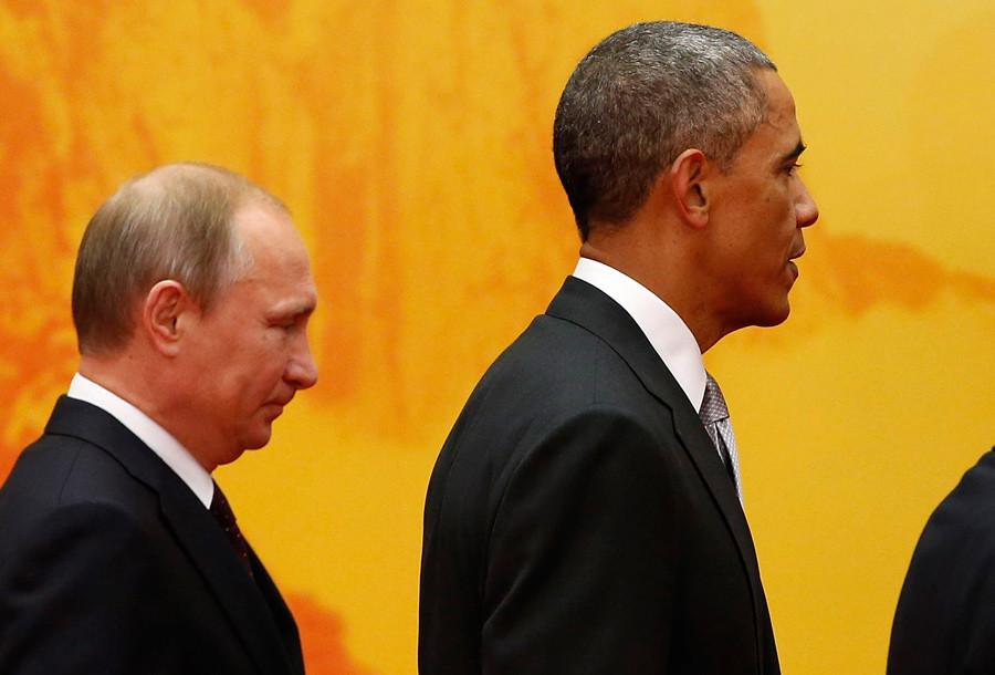 U.S. President Barack Obama (R) and Russia's President Vladimir Putin © Kim Kyung-Hoon