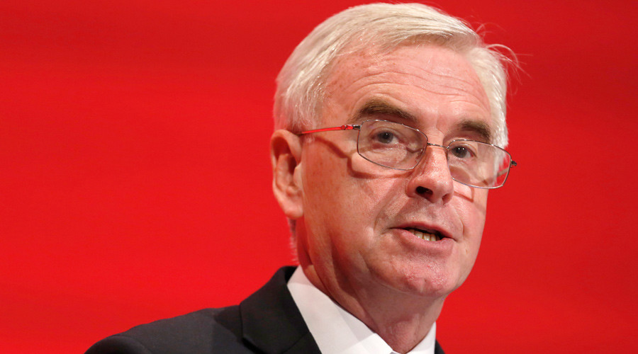 Britain's shadow Chancellor of the exchequer John McDonnell © Luke MacGregor