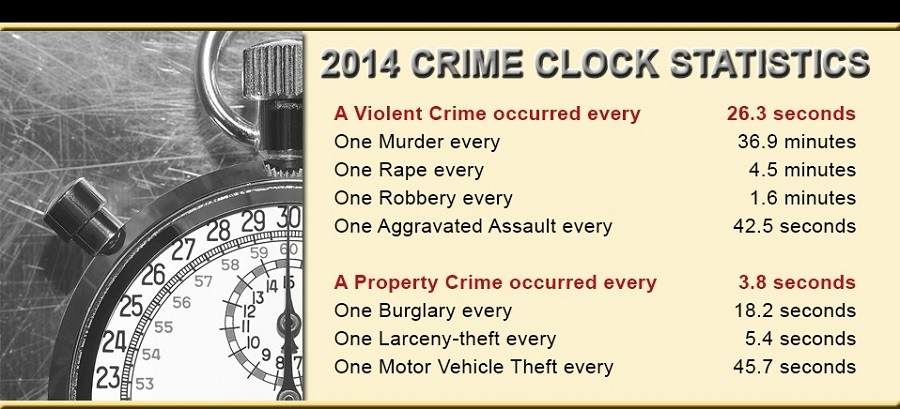 from the 2014 Crime in the United States report © FBI