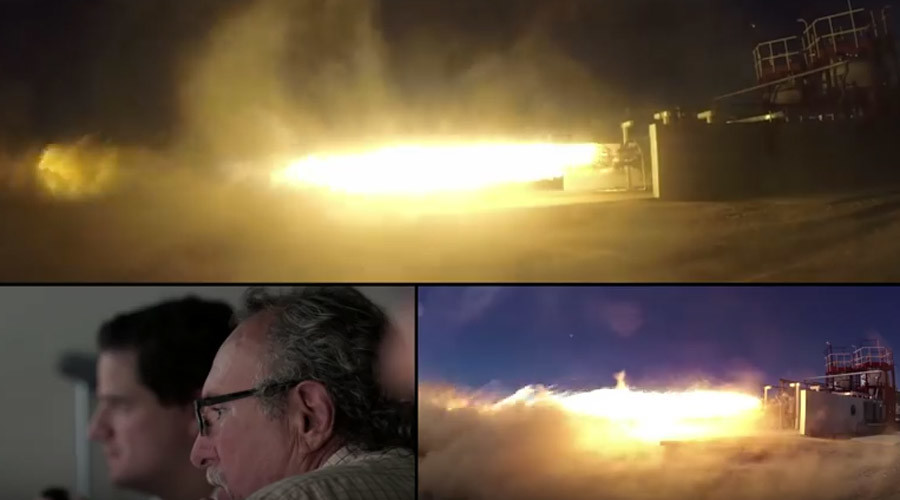 Virgin Galactic spectacularly tests main stage engine for LauncherOne spacecraft (VIDEO)