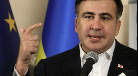 'Wack-job populist' Saakashvili gets water splashed in his face by 'corrupt' interior minister