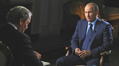 Vladimir Putin gave an interview to American journalist Charlie Rose in the run-up to his address at the UN General Assembly's 70th session. © kremlin.ru