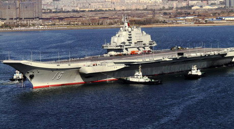 Chinese aircraft carrier Liaoning. © Wikipedia