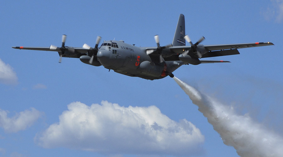 C-130 Hercules airplane. © U.S. Air Force