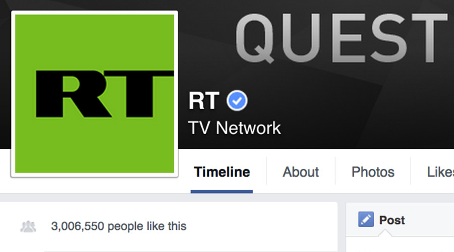 RT International hits 3mn 'likes' on Facebook, leaving MSM in its wake