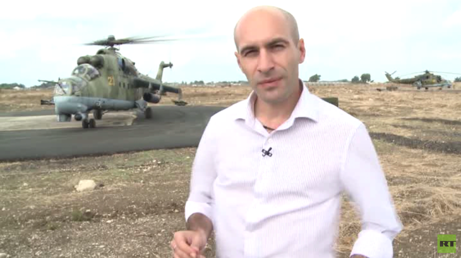 RT EXCLUSIVE: Mi-24 gunships guarding Russia's hub of anti-ISIS ops in Syria