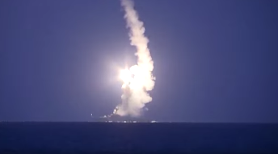 VIDEO: Russian warships strike ISIS positions in Syria