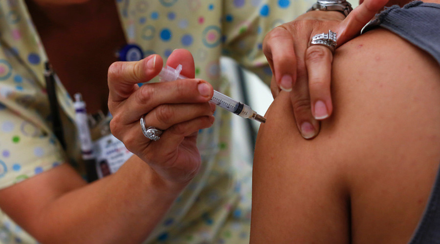 NJ pharma corp employees tested for HIV, hepatitis after nurse reused syringe for flu shots