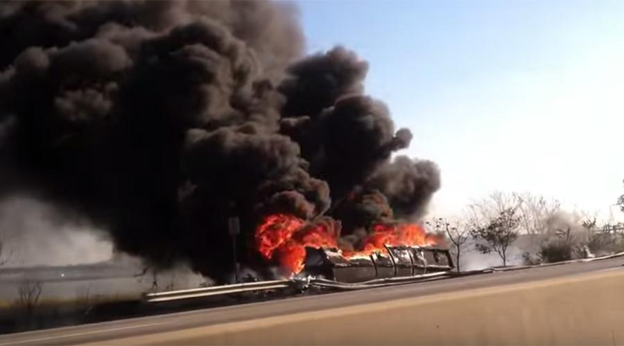Massive tanker truck explodes on New Jersey turnpike (VIDEOS)
