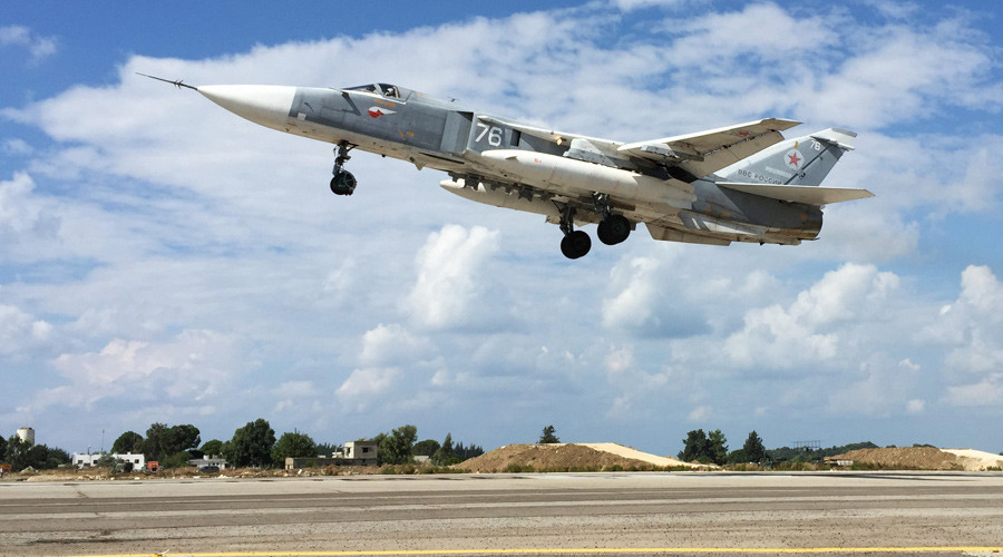 Russia's Su-24 aircraft takes off from Syria's Hmeimim airbase. © Dmitriy Vinogradov