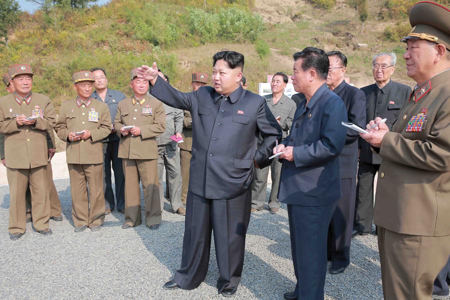 North Korean leader Kim Jong Un © KCNA