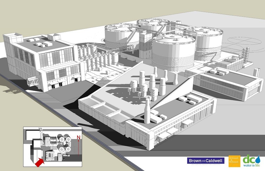 Rendering of Blue Plains Advanced Wastewater Treatment Plant Digester © DC Water