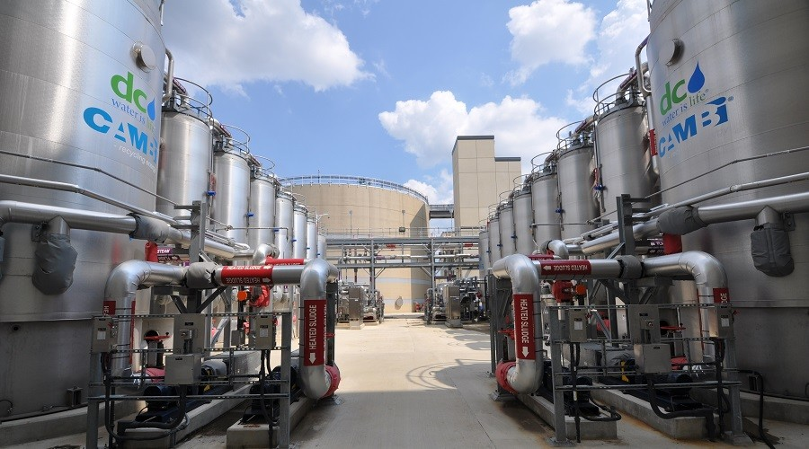 Thermal hydrolysis and anaerobic digestion form an energy plant © DC Water