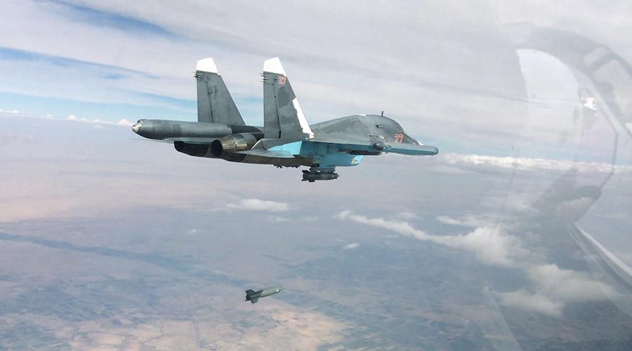 A Su-34 fullback bomber performs air strikes in the provinces of Raqqah and Aleppo © Russian Defense Ministry