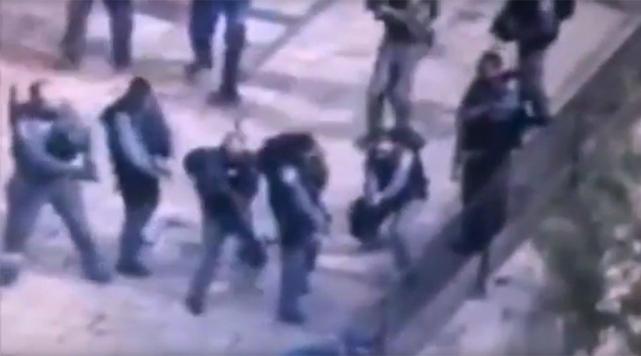 Dramatic footage shows Palestinian shot dead after stabbing 2 Israeli officers (GRAPHIC VIDEO)