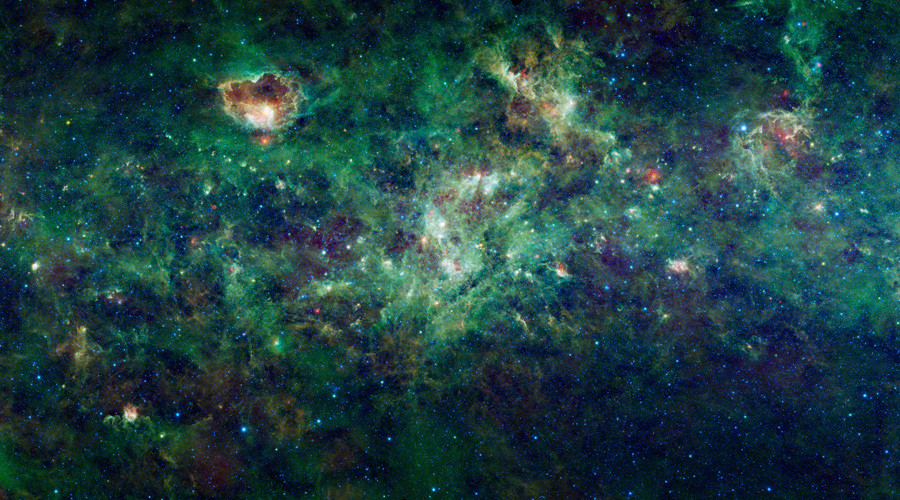 A section of the Milky Way galaxy © NASA / JPL-Caltech / UCLA / Handout