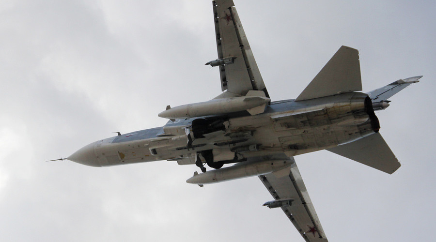 A Russian Su-24 front-line bomber jet © Dmitriy Vinogradov