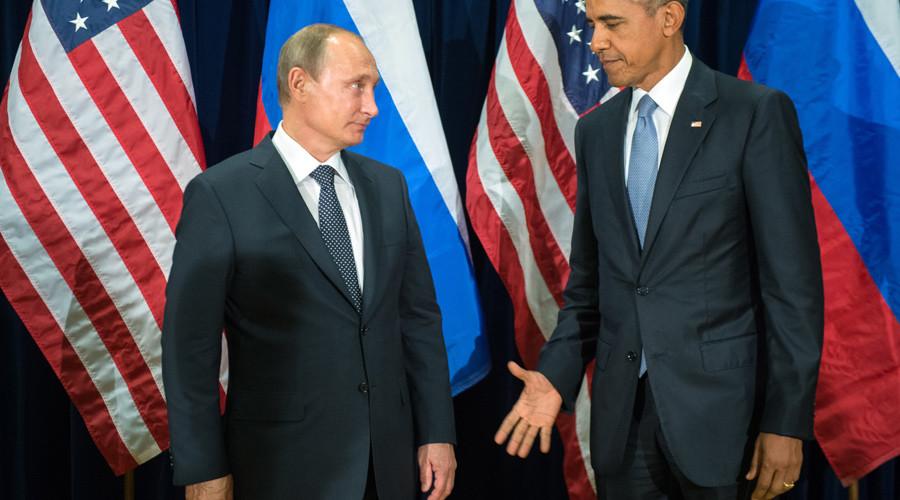 Russian President Vladimir Putin (L) and US President Barack Obama © Sergey Guneev / POOL