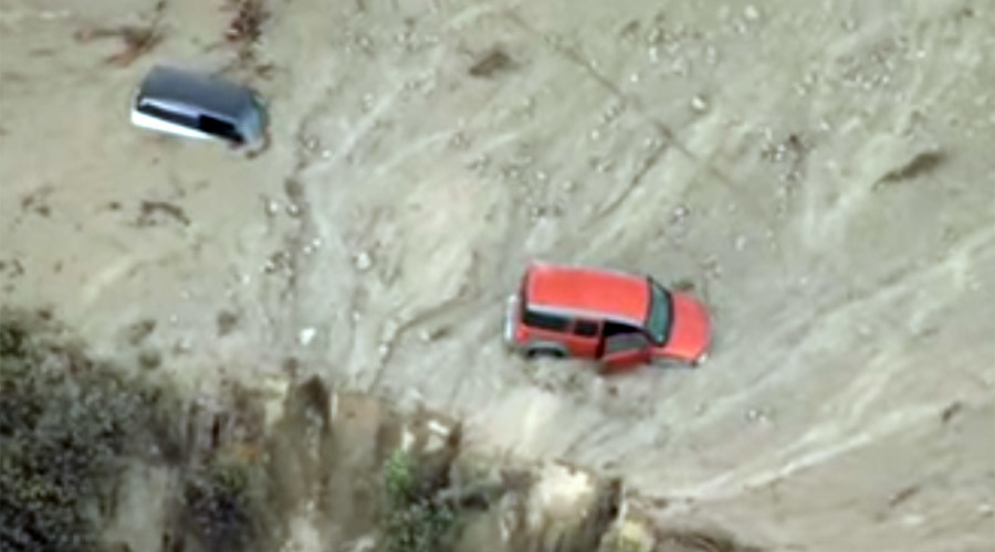 Cars trapped in 'life threatening' flooding, mudslides in Southern California