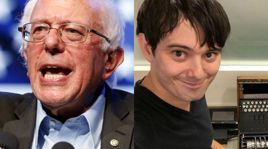 (L-R) Bernie Sanders (© Reuters / Lucy Nicholson) and Martin Shkreli (© Facebook)