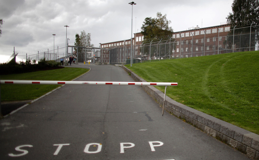 A general view shows Ila prison, where Norwegian mass killer Anders Behring Breivik was detained, before being transferred to his current location © Stoyan Nenov