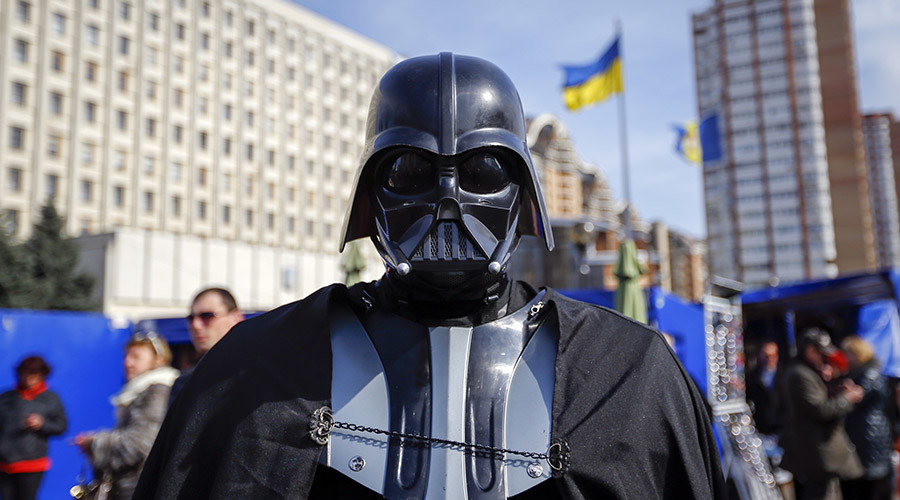 """Darth Vader"", the leader of the Internet Party of Ukraine. © Shamil Zhumatov"