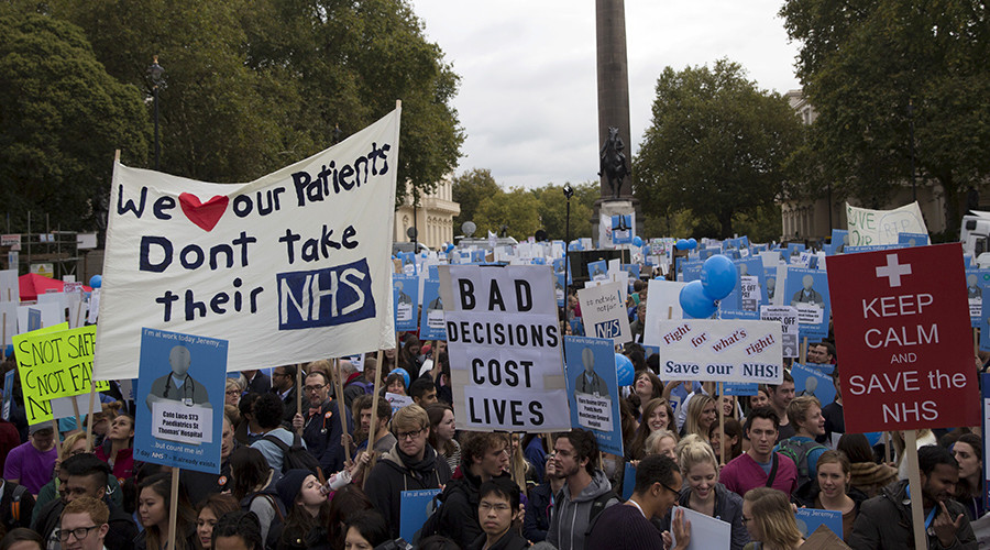 'No ifs, no buts, no junior doctor cuts': 20,000 doctors protest in London (PHOTOS)