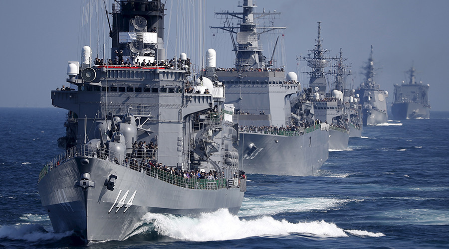 Japan displays naval power as US extends home fleet's operation to entire Pacific (VIDEO)