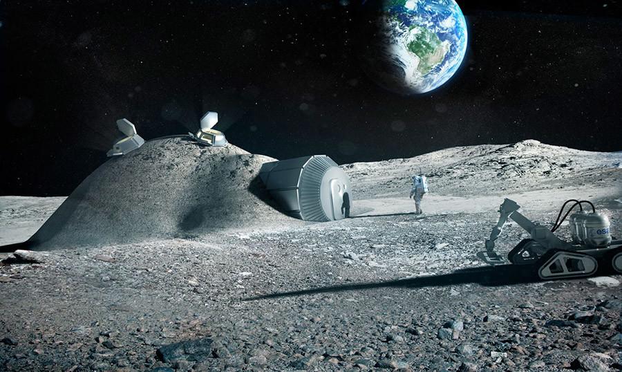 A proposed ESA design of a lunar base © fosterandpartners.com