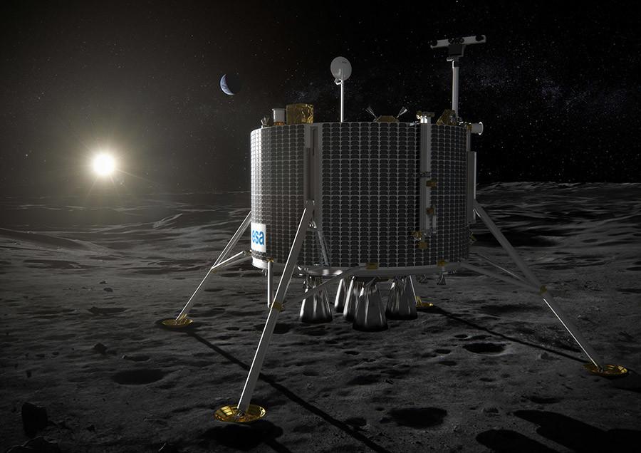 An ESA sketch of a lunar lander. © ESA