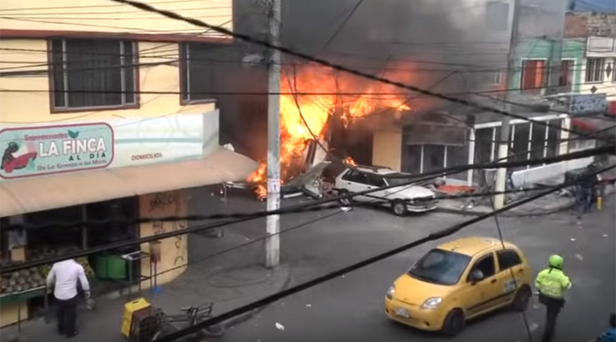 5 killed as plane crashes in residential area of Bogota