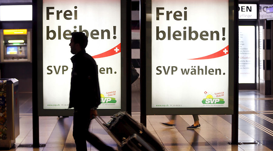 'Our party is against free immigration, and so are the Swiss people'