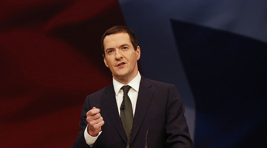 Britain's Chancellor of the Exchequer George Osborne. © Phil Noble