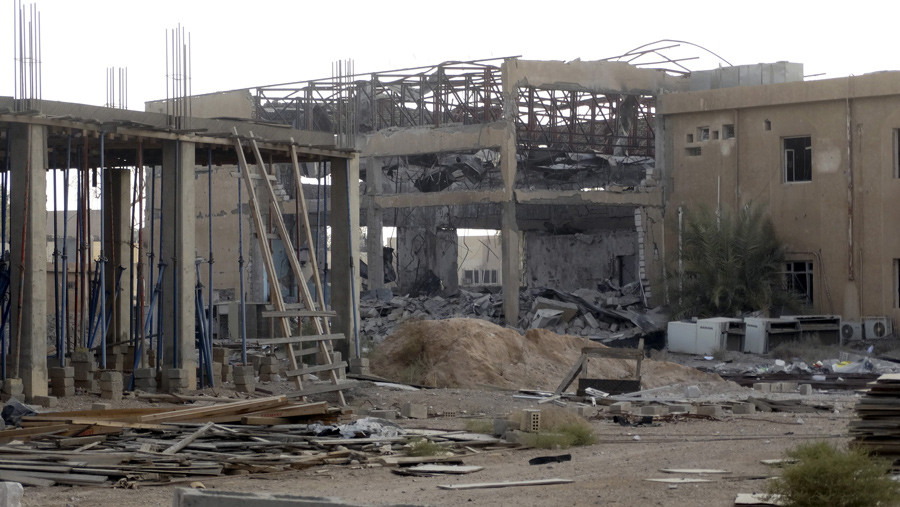 A destroyed building is seen at the University of Anbar, in Anbar province © Stringer