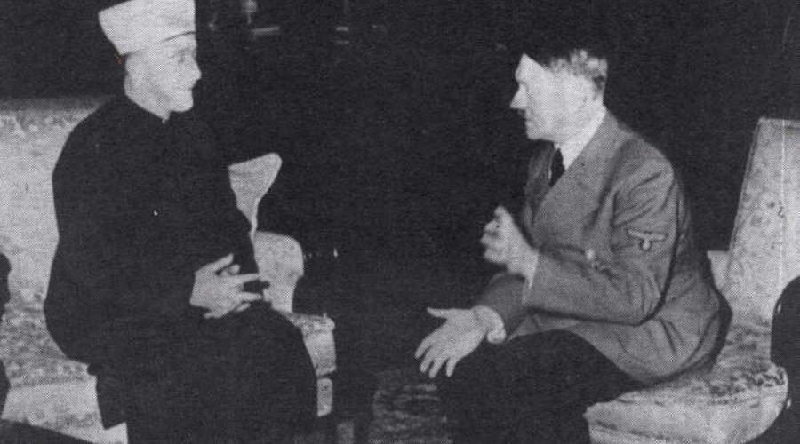 German Führer Adolf Hitler and Grand Mufti of Jerusalem Mohammad Amin Al-Husseini meet in Berlin, 30 November 1941