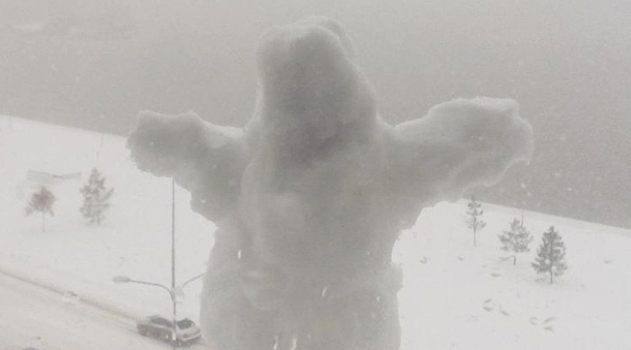 too much even for siberia worst blizzard in 10yrs turns omsk into