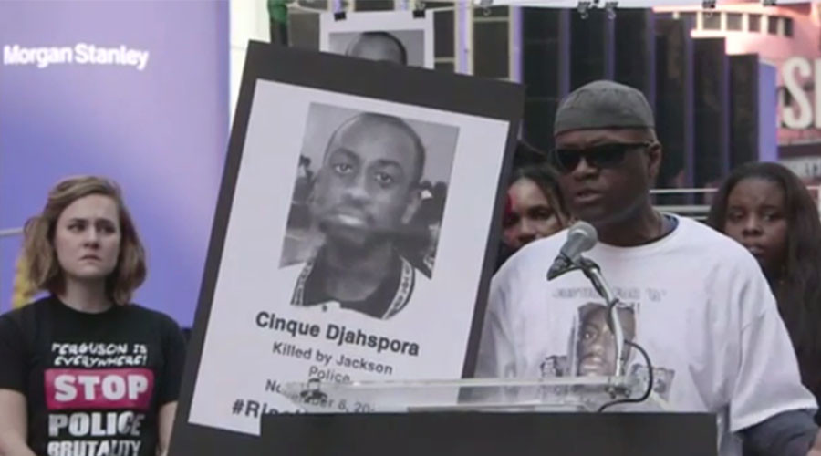 #RiseUpOctober protests against police killing civilians begin in New York