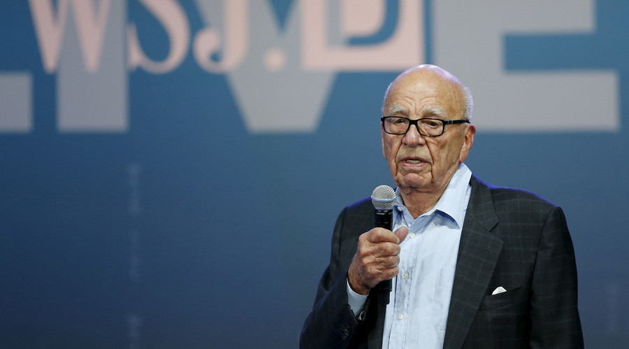 News Corp Executive Chairman Rupert Murdoch speaks at the start of the Wall Street Journal Digital Live (WSJDLive) conference at the Montage hotline Laguna Beach, California October 19, 2015. © Mike Blake