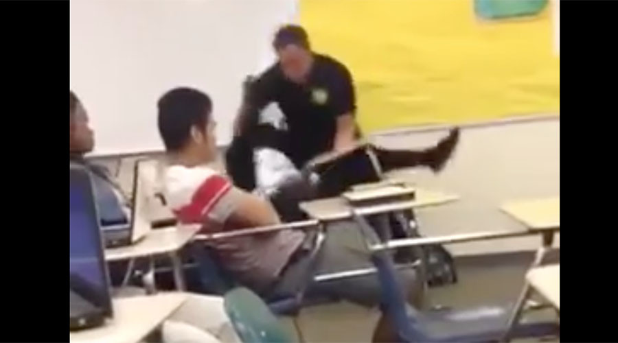 School officer uses force against black female student, slams her on floor (VIDEO)