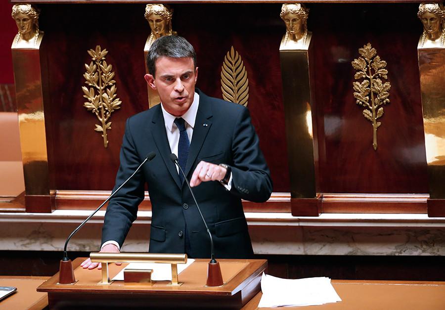 French Prime Minister Manuel Valls © Jacky Naegelen