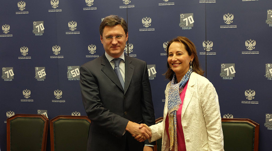 Russian Energy Minister Aleksandr Novak and French Minister of Ecology, Sustainable Development and Energy Segolene Royal © Russian Ministry of Energy