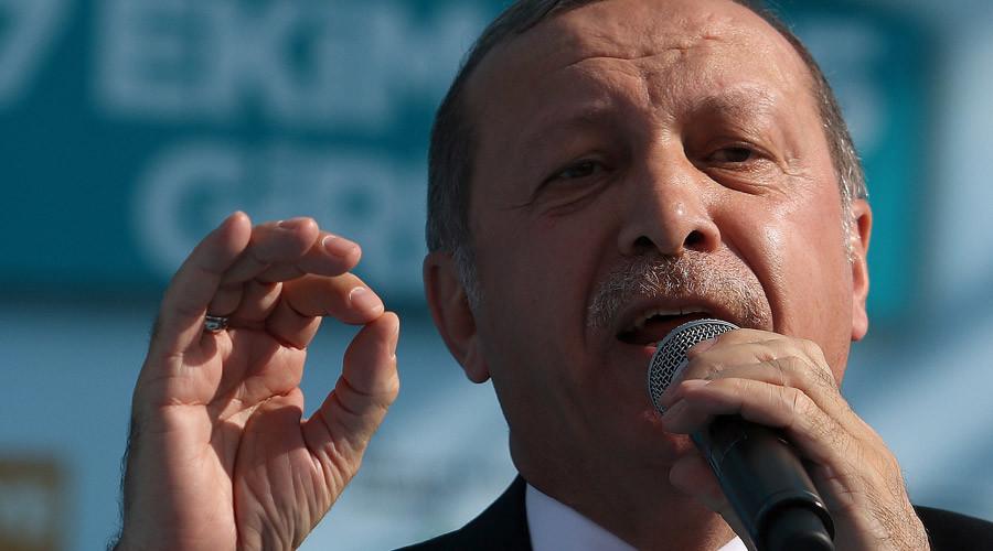 Turkish President Tayyip Erdogan © Yiannis Kourtoglou