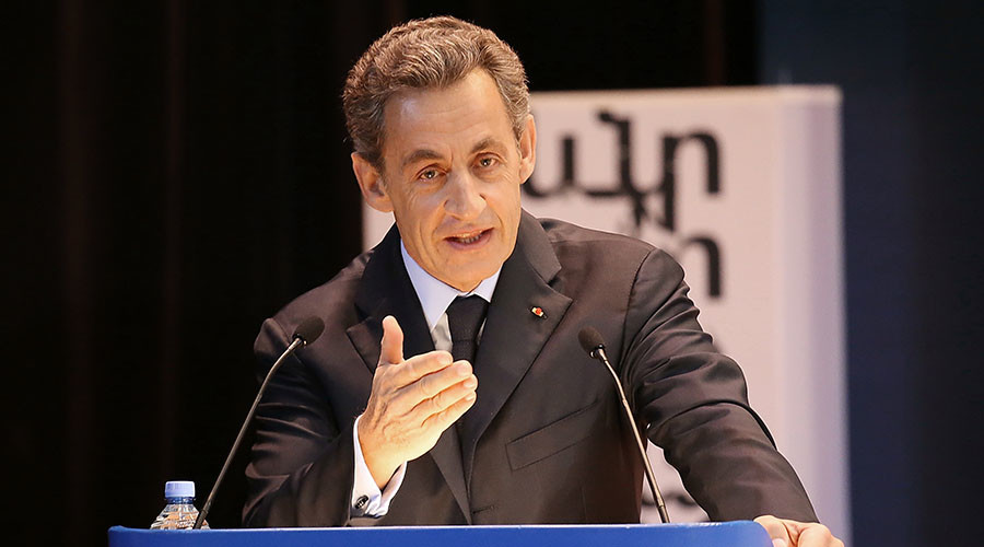 France's former President Nicolas Sarkozy gives speech to MGIMO University students. © Igor Liliev