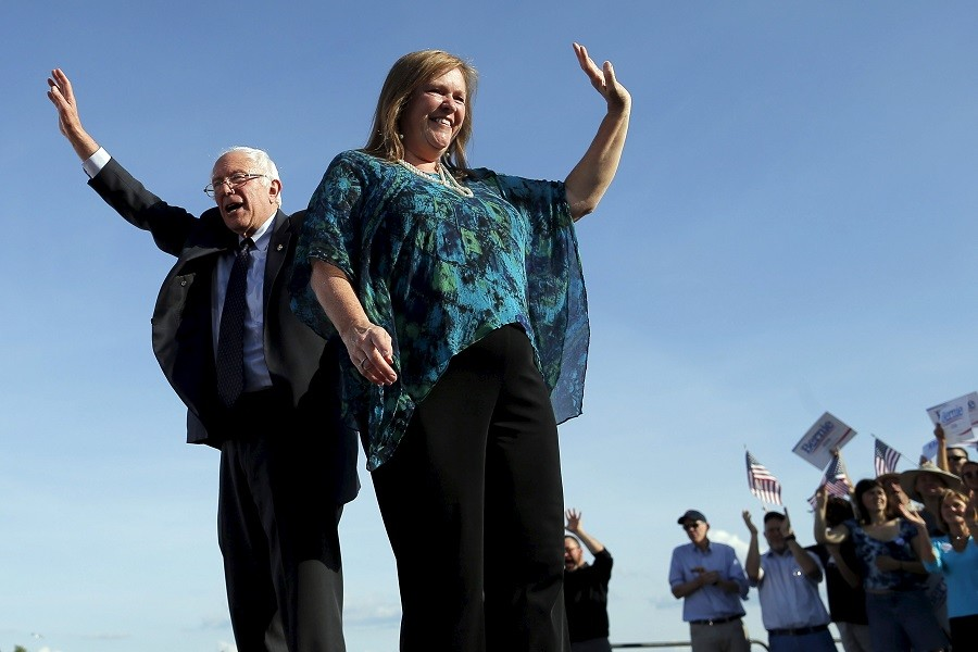 Bernie and Jane Sanders on the campaign trail in Burlington, Vermont © Brian Snyder