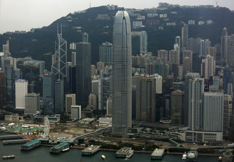A general view of the financial Central district in Hong Kong © Bobby Yip