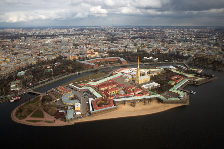 Aerial view of the Peter and Paul Fortress in St. Petersburg. Anatoly Medved © Anatoly Medved