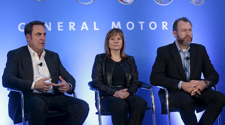 General Motors Executive Vice President Global Product Development Mark Reuss (L), GM CEO Mary Barra and GM President Dan Ammann were not prosecuted for the deadly ignition switch scandal. © Rebecca Cook