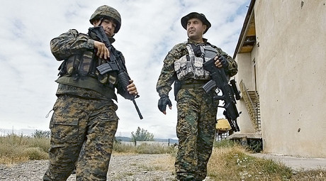 August 2008. Georgian servicemen in the area of the Georgian-South Ossetian conflict. © David Hizanishvily