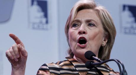 Democratic presidential candidate Hillary Clinton © Yuri Gripas