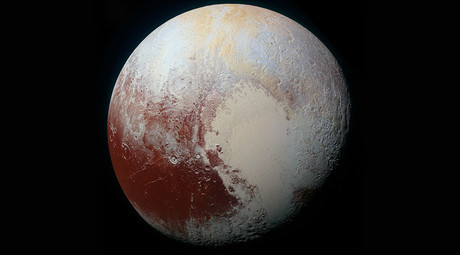 NASA's New Horizons spacecraft captured this high-resolution enhanced color view of Pluto on July 14, 2015. © NASA/JHUAPL/SwRI
